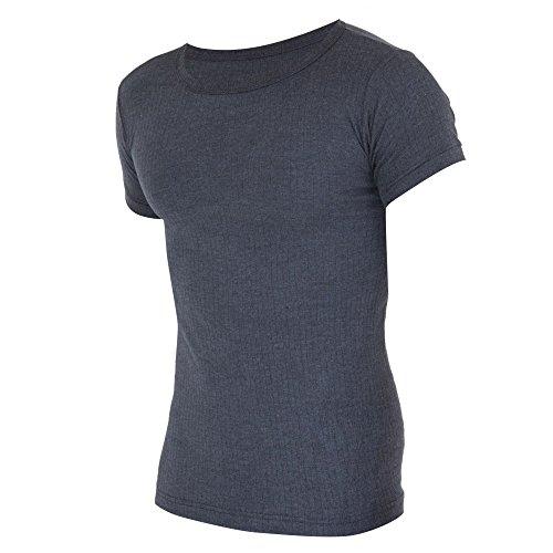 Floso - T-Shirt Thermique à Manches Courtes (en Viscose) - Homme (M) (Charbon)