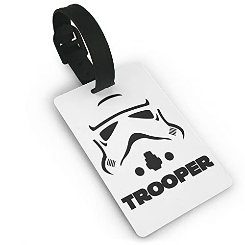 Stạr_Wạrs Stormtrooper etiqueta de equipaje con tarjeta de identificación de nombre colorido y seguro bolsa de equipaje etiquetas de PVC