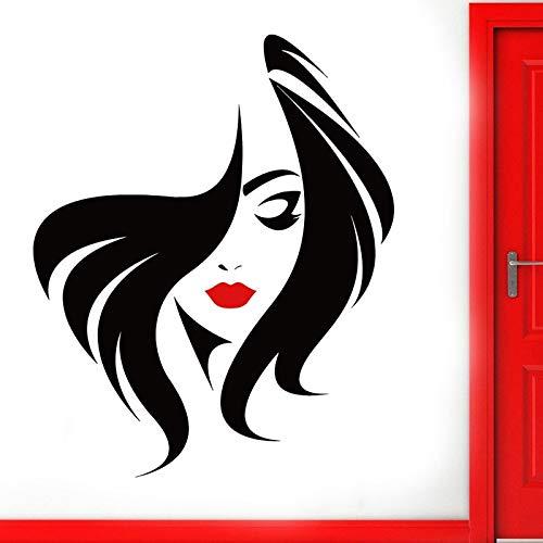 Handaxian Sticker Beauté Salon Manucure Ongles Salon Main Fille Face Vinyle Home Decor Coiffeur Coiffure Autocollant 57 * 70 cm