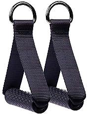 Hossom Handgrepen voor Weerstandsbanden, Siliconen Handgrepen met Massieve ABS-Kernen, Ideaal voor Trainingen op Kabels, Kabeltrekkers of Krachttorens(1 paar)
