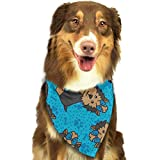 Osmykqe Bandana de Perro Fiesta Yorkie Baberos para Perros Trangle Head Bufanda para Gatos Pupply Big Dog Soft
