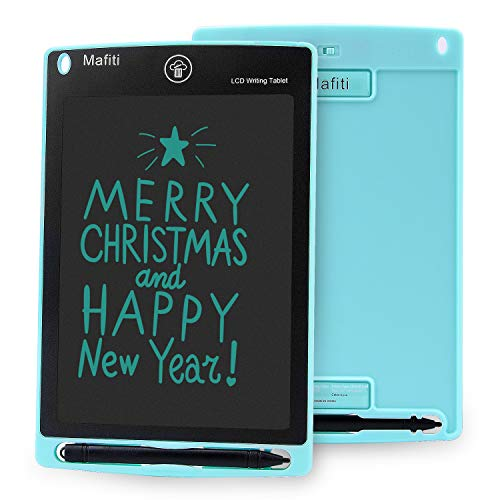 Mafiti LCD Writing Tablet 8.5 Inch Electronic Writing Drawing Pads Portable Doodle Board Gifts for Kids Office Memo Home Whiteboard Cyan
