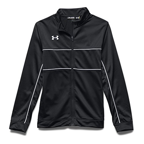 Under Armour Boys' UA Rival Knit Warm-Up Jacket Youth X-Large Black