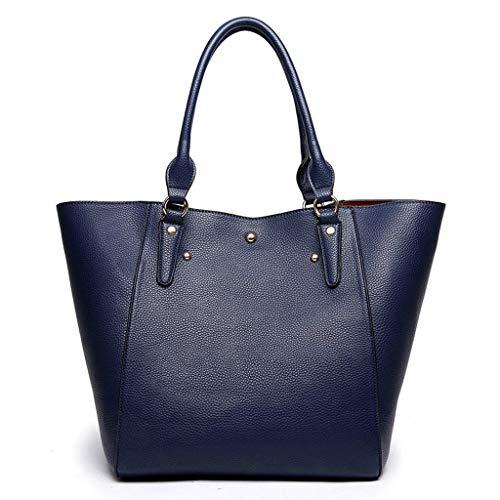 TONGSH Tote Bag per Laptop per Donna, Valigetta per Laptop Impermeabile Borsa per Grandi Signore Designer Borsa Crossbody per Secchiello in Ecopelle (Colore : J.)