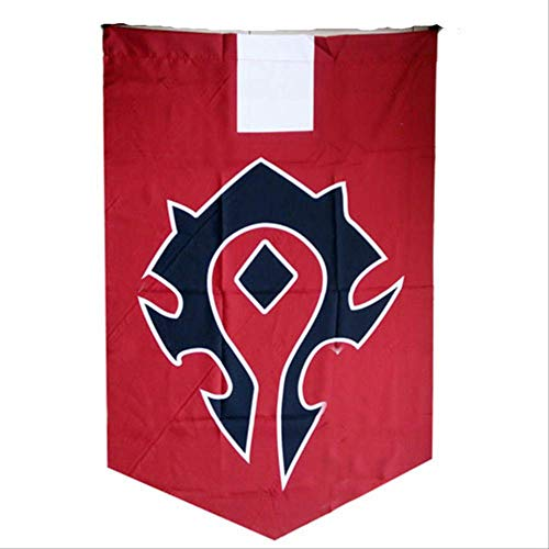 PXNH World of War craft Alliance Horde Banner Flag Dacron Blue Decoración para el hogar Cosplay Accesorio 96x64cm Horde