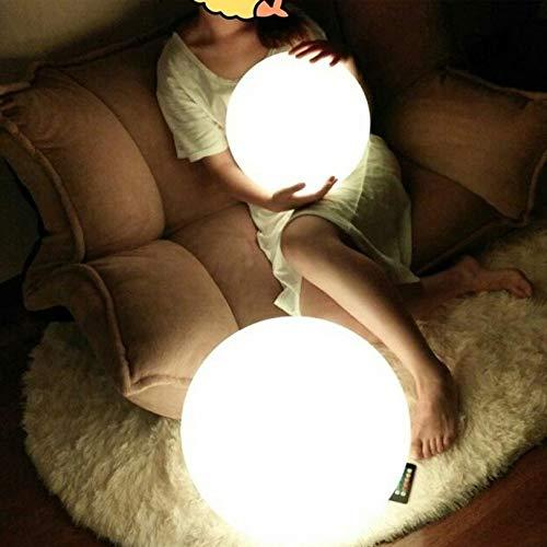 MUYANDZ Lampada da Pavimento Lampada da Terra LED Bianco Camera Lampada da Terra Telecomando dimmerabili Free Standing Lamps for Soggiorno Sfera Light Fixture (Lampshade Color : Diameter 15cm)