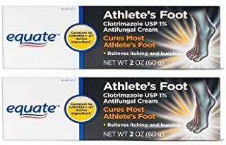 Athlete's Foot Clotrimazole 2oz, by Equate, Compare to Lotrimin AF (Pack of 2)