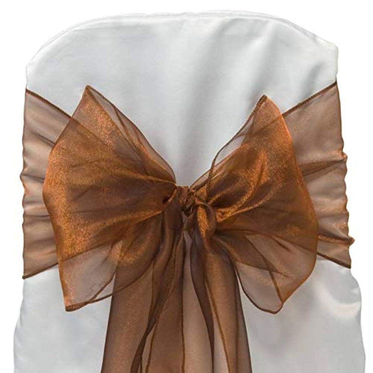ブレスジュラシックパーク常にMDSのパック300オーガンザ椅子サッシ/リボンの結婚やイベント宴会装飾椅子サッシ弓サッシ30以上の色 ゴールド 300 _organza _ Bronze