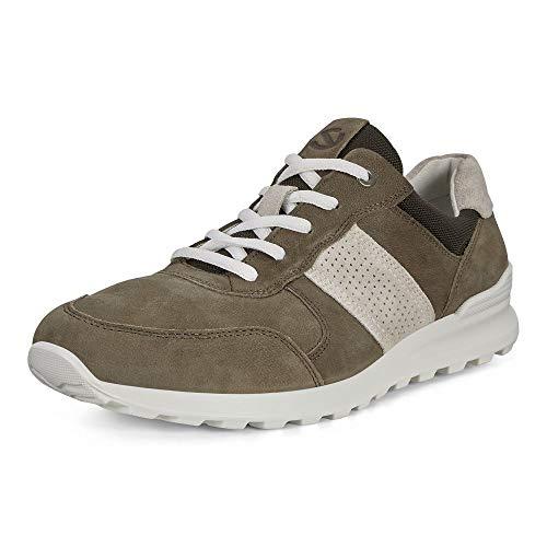 ECCO Men's CS20 Casual Trainer Sneaker, Tarmac/Shadow White, 10/10.5 UK