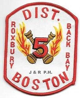 """MA 4.5/"""" x 4.5/"""" size fire patch Boston  W-25 // Mass Casualty // Rehab"""