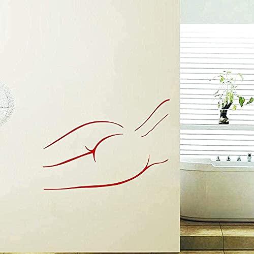 Pegatinas de pared de moda, calcomanía de pared de Spa, adhesivo decorativo, impermeable, adhesivo para azulejos de pared de baño, calcomanía artística de vinilo extraíble R 44x76cm
