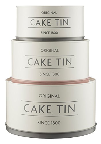 Mason Cash Innovative Kitchen Coated Steel Upside Down Stackable / Nesting Cake Tins