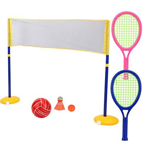Ligero, fácil de llevar, 2 en 1, juego de juguetes deportivos al aire libre, para interior, exterior, jardín, playa, para niños y niñas de 3 años(ZG270-60)