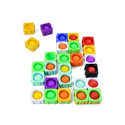 LANLANLife Dekompression Bubble Spielzeug Kinder mentale arithmetische Konzentration Pädagogisches Spielzeug Silikon Dekompression Spielzeug Bausteine Puzzle Spielzeug