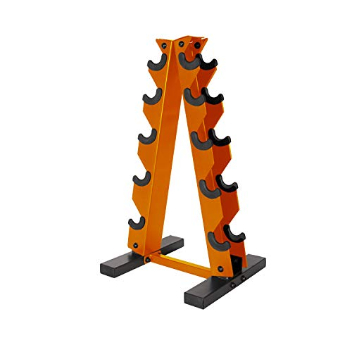 CAP Barbell A-Frame Dumbbell Weight Rack, Orange, RK-12BIS-OR, RK-12BIS-OR, RK-12BIS-OR, RK-12BIS-OR