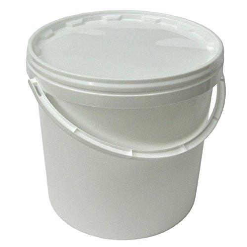 Secchio plástico 10 L container qualità alimentare con coperchio e manico (22051)