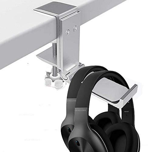 Supporto in alluminio per cuffie sotto scrivania con morsetto universale per cuffie da gioco, pieghevole e flessibile