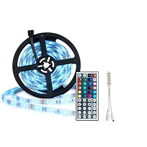 DZHT 5m RGB Led Strip Light 5050 SMD RGB Tape Impermeable Flexible Led Ribbon 30d / m con Control Remoto + Adaptador de Corriente Dc12v (Color : Waterproof)