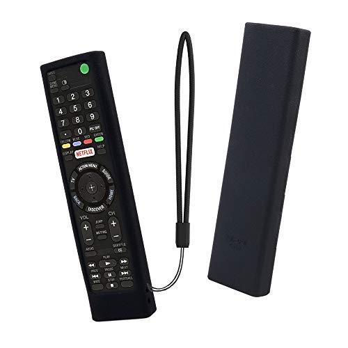 SIKAI Funda de Silicona para Mando a distancia Sony RMF-TX200C RMT-TX100D Caja de Control Remoto a Prueba de Golpes de TV Funda Protectora Antideslizante Cubierta Carcasas (Negro)
