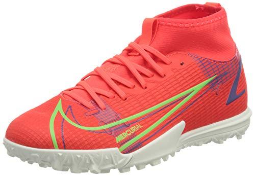 Nike JR Superfly 8 Academy TF, Zapatillas de ftbol, BRT Crimson Mtlc Silver Indigo Burst White Rage Green, 33.5 EU
