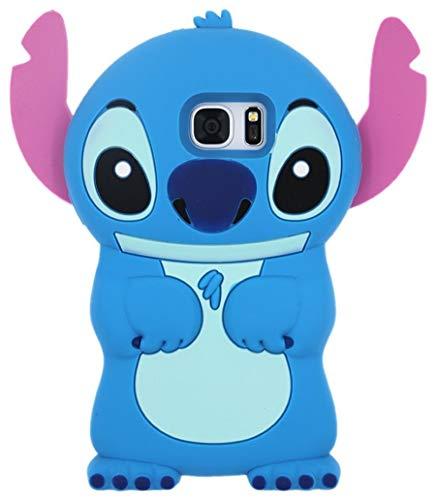 Galaxy S8 Plus Blue Stitch Case,3D Cartoon Animal Character Design Cute Stitch Soft Silicone Kawaii Cover,Cool Cases for Kids Boys Girls (Blue Stitch, Samsung Galaxy S8 Plus)