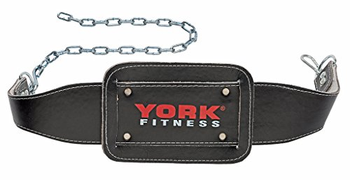 York Fitness Black Dipping Belt with Chain