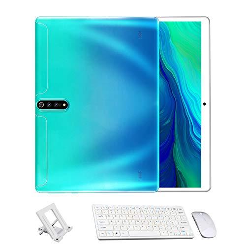 BESTSUGER Tablet 10 Pulgadas Android PC, 2GHz Procesador Octa-Core, Cuatro cámaras, Shell Degradado de Color, Dual SIM Llamada 3G con Mouse y Teclado, WiFi Bluetooth GPS OTG,Verde