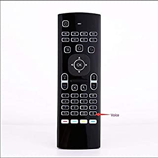 Calvas Backlight MX3-L Backlit Air Mouse Remote Control With Voice 2.4G RF Wireless Keyboard For android tv box - (Color: ...