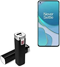 Charger for OnePlus 8T (Charger by BoxWave) - Rejuva Power Pack, 2600 mAh Compact Portable Power Bank Charger for OnePlus 8T - Jet Black