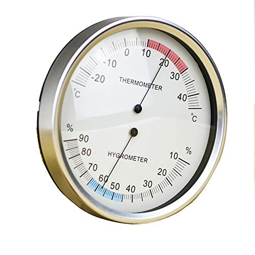 Lydul wijzer, thermometer, binnenthermometer, hygrometer, 132 mm, analoog, temperatuur hygrometer, luchtvochtigheid, monitor -25~45 C