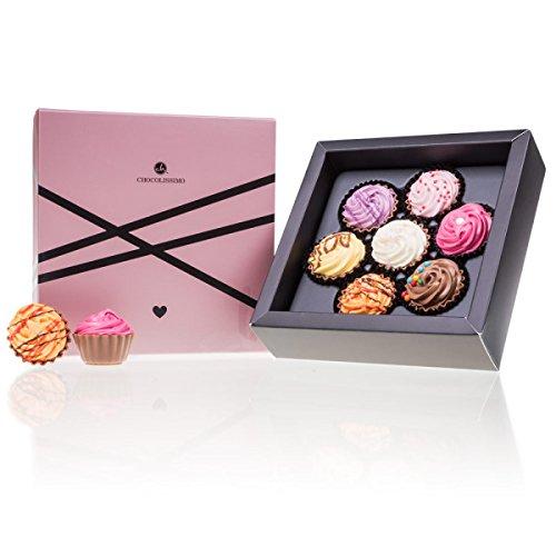 Love & CupCake 7 - Pralinen in Cupcake-Form | Luxus Pralinen | Geschenk | Erwachsene | Mann | Frau | Geschenkidee Liebe | Geburtstag | Mama | Papa | Muttertag | Valentinstag Schokolade
