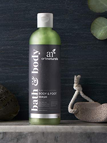 ArtNaturals Tea Tree Body and Foot Wash - (12 Fl Oz / 355ml) - Peppermint and Eucalyptus Oil - Natural...