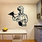 Tianpengyuanshuai Chef Kitchen Etiqueta de la Pared Decoración de la habitación Etiqueta de la Pared Etiqueta de Vinilo Etiqueta de la habitación de la Cocina Mural 42X43cm
