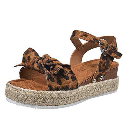 ZBYY Sandalias de plataforma para mujer, alpargatas de moda, sandalias de cuña con cordones, tacones altos, para fiesta, botines de tobillo - verde - 40