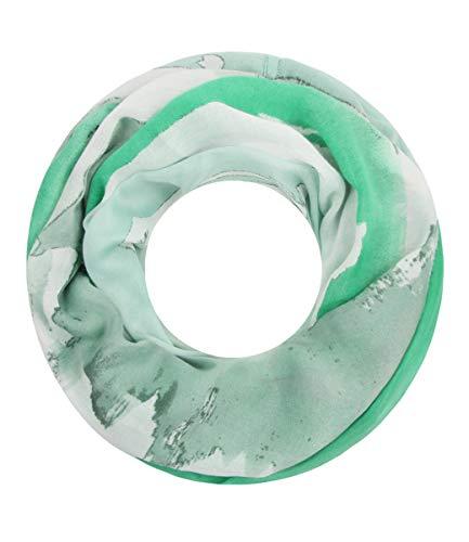 Majea Damen Loop Schal viele Farben tolle Muster Schlauchschal Halstücher (grün 17)
