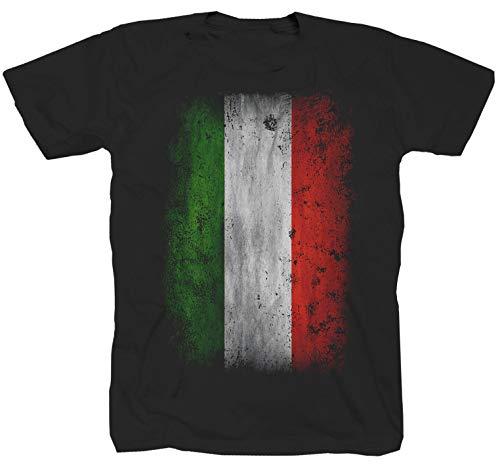 Italiaanse vlag Rome Milaand Calcio zwart T-shirt