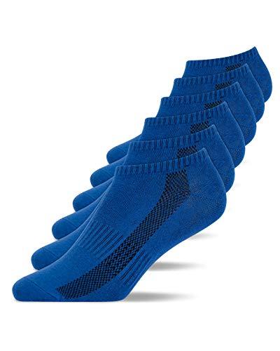 Snocks Sneaker Socken Herren Blau Größe 43-46 6x Paar Sneaker Socken Damen Socken Herren 43-46 Sneaker Füßlinge Herren Sneakersocken Herren 43-46