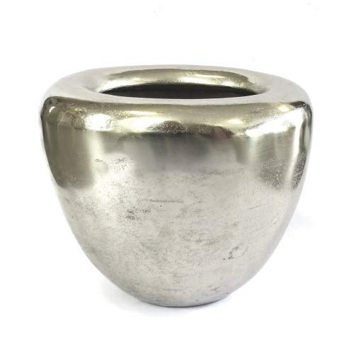 Colmore Vase Bodenvase Deko Oval Metall Silber Modern