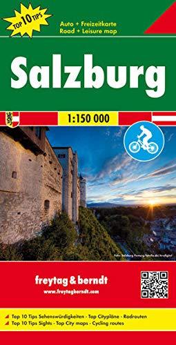 Salzburg, Autokarte 1:150.000, Top 10 Tips: mit Radrouten (freytag & berndt Auto + Freizeitkarten)
