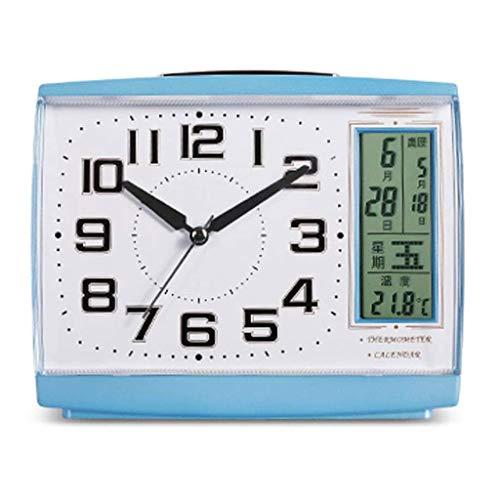SCDZS Alarma Reloj LCD Pantalla Fecha Temperatura y Humedad Pantalla Digital Sleepy Night Light Sleep Temporizador (Color : B)