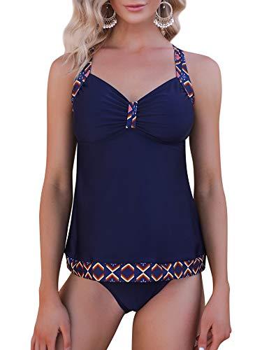 Irevial Tankinis Traje de baño Mujer Dos Piezas Conjunto de Bañador Push up Verano Swimsuit para el Mar, Playa, Piscina, Fiesta, Vacaciones