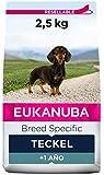 EUKANUBA Breed Specific Alimento seco para perros teckel adultos, alimento para perros óptimamente adaptado a la raza 2.5 kg