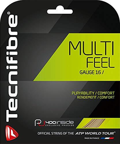 Tecnifibre MultiFeel Juego de cuerdas de tenis, color negro, calibre 1,25 mm