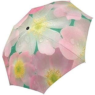 Blooming Petals Pinky Tone Automatic Umbrella Sun Block Compact Folding Portable Umbrella for Travels Or Gifts:Comoparardefumar