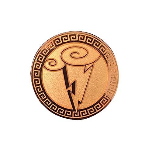 Symbol der Götter Brosche Herkules Mount Olympus Abzeichen Brilliant Lighting Bolt Emaille Pin Animationsfilm Inspiriert Schmuck-Standard