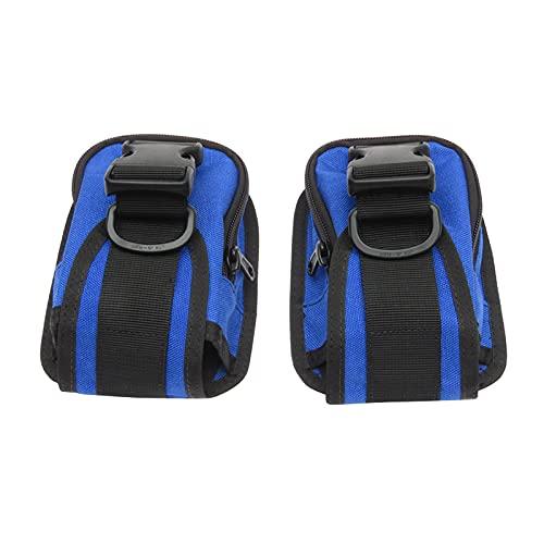 SunniMix Bolsa de Lastre de Buceo, 3 Kg Cinturón de Lastre de Buceo Bolsillo de Lastre de Buceo Reforzado con Hebilla de Liberación Rápida Equipo de Buceo - Azul