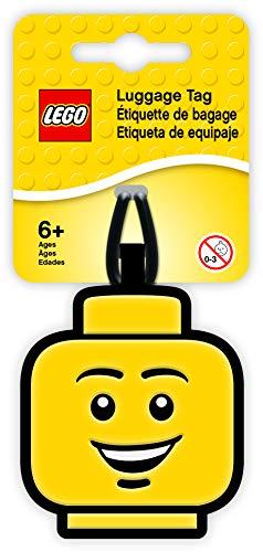 LEGO- Etiqueta para Equipaje de Cara, Color Amarillo (IQLUG-51167)