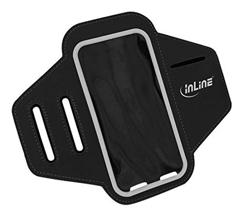 InLine 55668 Sport Smartphone-Armband, 16 x 8,5 cm schwarz
