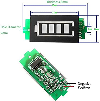 NLXTXQC Battery Level Indicator Tester 1S 3.7V 2S 8.4V 3S 12.6V 4S 16.8V LCD Display Meter Board 18650 Lithium Lipo Li-ion Capacity Color : 1S 3.7V Green