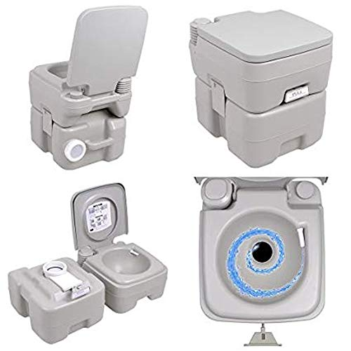 SF SAVINO FILIPPO Bagno Toilette WC gabinetto Water Chimico Mobile Portatile in Dura Resina con pistone per Scarico Acqua per Campeggio Camper roulotte PIC nic Barca